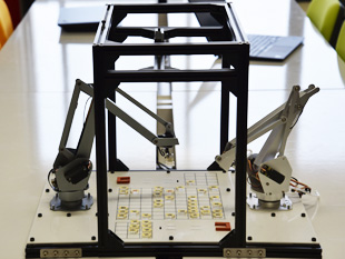 Shogi robot that uses image recognition and robot control