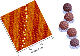 Nano-level visualizations of higher fullerenes and platinum porphyrin supermolecule structures