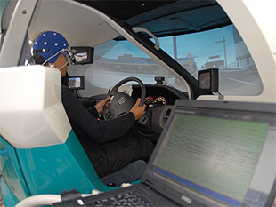 Measuring various biosignals during a driving simulation